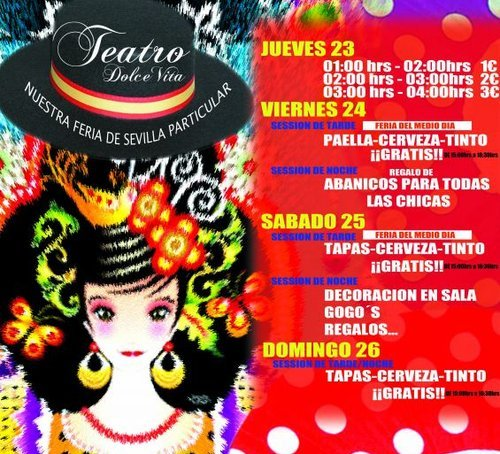 Feria de Abril en Teatro Dolce Vita