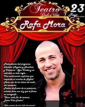 Rafa Mora en Teatro Dolce Vita
