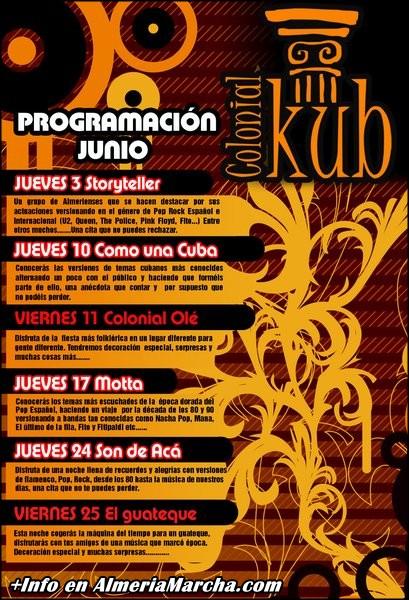 Programación Junio Kolonial Kub