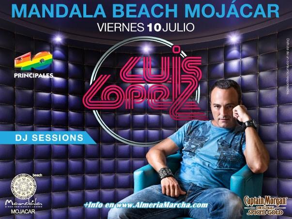 Luis López en Mandala Mojácar, viernes 10 de Julio 2015