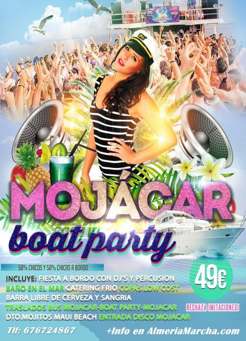 Fiesta en barco Mojácar